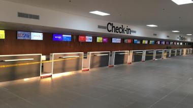 Así luce a esta hora el aeropuerto Ernesto Cortissoz