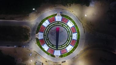 Espectaculares imágenes del monumento dedicado a Junior