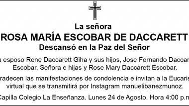 Rosa María Escobar de Daccarett