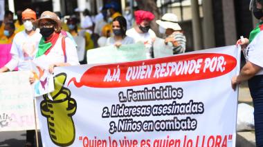 Nueva jornada de manifestaciones del Paro Nacional en Barranquilla