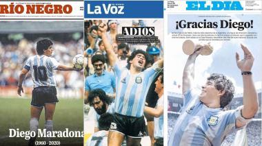 """""""AD10S"""": así la prensa argentina se despide de Maradona en portada"""