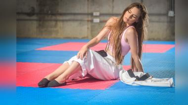 Viviana Álvarez, una modelo cinturón negro en Taekwondo
