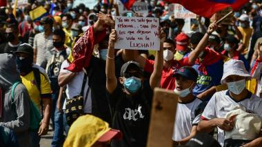 Estudiantes y organizaciones sindicales marchan en Barranquilla