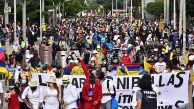 Avanzan las manifestaciones en diferentes puntos de Barranquilla