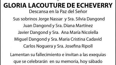Gloria Lacouture de Echeverry