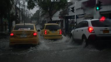 Se registra fuerte lluvia en Barranquilla este jueves