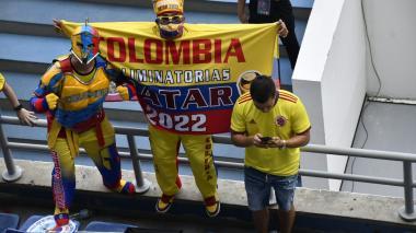 Ambiente en el estadio Metropolitano para el partido Colombia vs. Ecuador