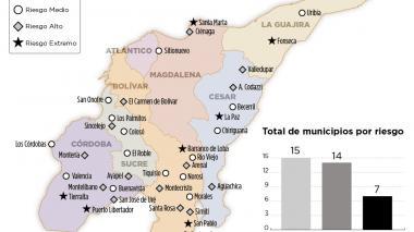 Infografía: Municipios en riesgo electoral para el plebiscito