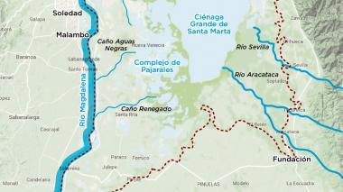 Infografía: Hidrografía de la Ciénaga Grande de Santa Marta