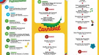 Vea aquí la programación oficial del Carnaval 2019