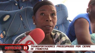 Transportadores preocupados por cierre de frontera