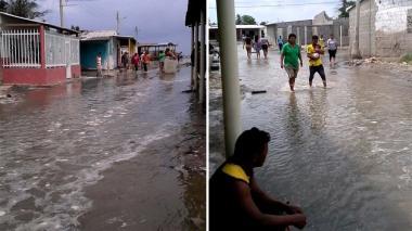 """En video   """"Se está desbordando el mar y la gente no sabe qué hacer"""""""