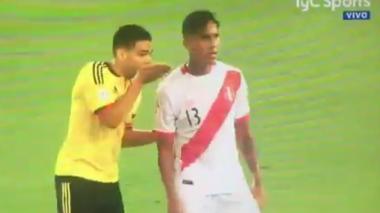 El secreteo entre Falcao y los jugadores peruanos
