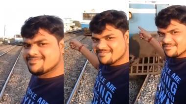 El impactante video de un joven que fue arrollado por un tren por sacarse una selfie