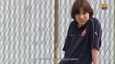 Con este video, Barcelona FC celebra el debut de Messi hace 17 años