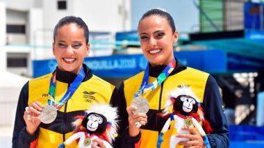 Así van los Juegos | Colombia ganó medalla de plata en nado sincronizado en modalidad dueto técnico