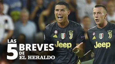 Las 5 breves de EH | Cristiano, expulsado en su primer partido de Champions con la Juventus