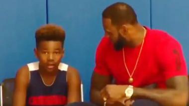 En video   Las emotivas palabras de aliento de LeBron James a su hijo