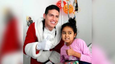 El hermoso gesto de James Rodríguez con los niños de un hospital en Navidad