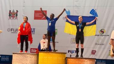 La colombiana Yenny Sinisterra, campeona mundial en levantamiento de pesas