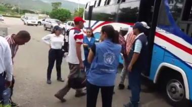 Colombianos liberados llegan a Cúcuta