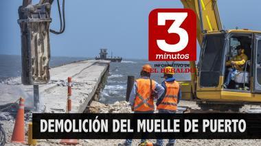 Informativo 3 minutos de EL HERALDO   Demolición del muelle de Puerto Colombia