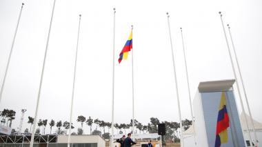 Delegación colombiana iza la bandera en los Juegos Panamericanos