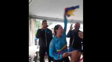En video | Así celebró Mariana Pajón el título de Egan Bernal en el Tour de Francia