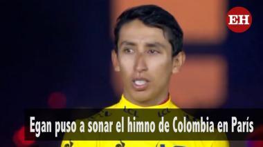 Egan puso a sonar el himno de Colombia en París