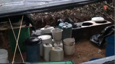 En video | Así fue el desmantelamiento del laboratorio de droga en Tubará