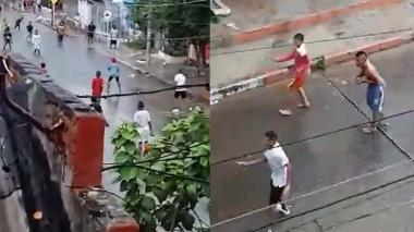 En video | Pandillas se enfrentan bajo la lluvia en El Valle