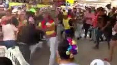 En video   Policía controló rápidamente riña en la vía 40 con 79