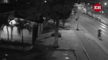 En video | Cámaras registran lo ocurrido con el domiciliario en la Murillo