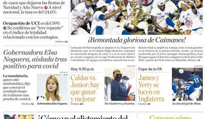 Positividad cae al 15% en Barranquilla