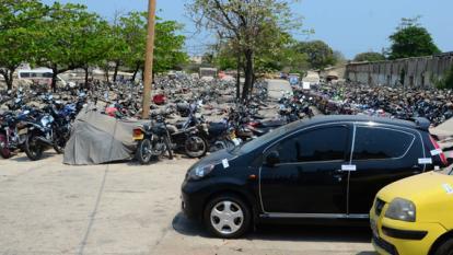 Los 287 vehículos inmovilizados fueron trasladados a los patios de la Secretaría de Movilidad.