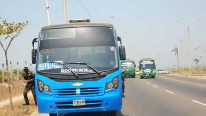 Bus asaltado