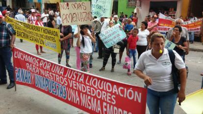 """Chanceros protestaron por falta de """"pagos justos"""""""