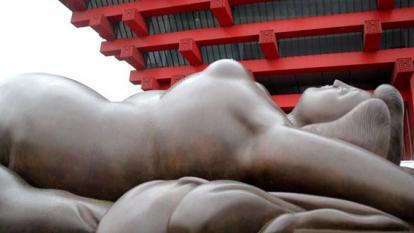 Fernando Botero abre en Shanghái su primera muestra con escultura monumental en China