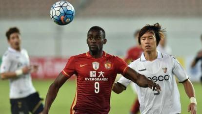 Jackson debutó oficialmente con el Guangzhou