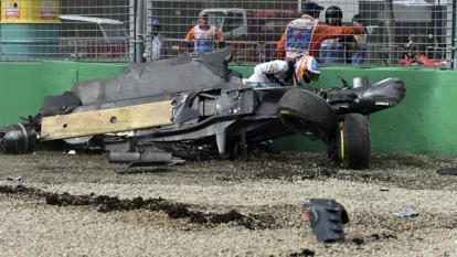 Fernando Alonso salió ileso