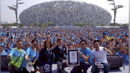 Más de 31.000 chinas fijan record mundial de baile