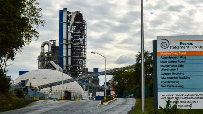 Planta productora de cemento de Martinsburg.