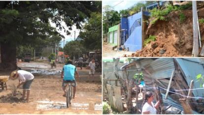 Por lluvias siete casas de madera y zinc se cayeron en Santa Marta