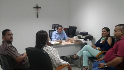 Reunión entre el equipo auditor y el contralor del Atlántico, Carlos Rodríguez.