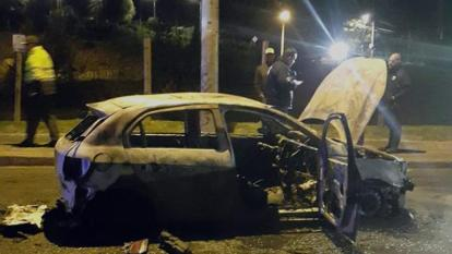 Uber se pronuncia sobre el vehículo quemado en Bogotá