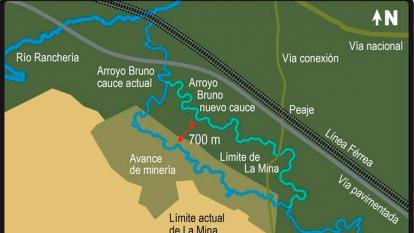 El Cerrejón accede a una consulta para desvío del arroyo Bruno