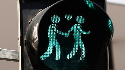 Modelo de semáforos que este martes estrenó la ciudad española de San Fernando.