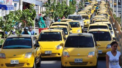 Caravana de taxis.