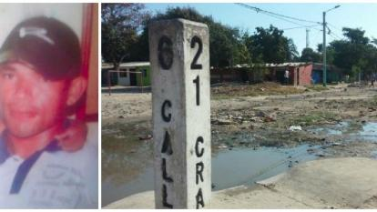 Jesús Tovar Mejía, de 24 años. A la derecha, sector del macabro hallazgo.