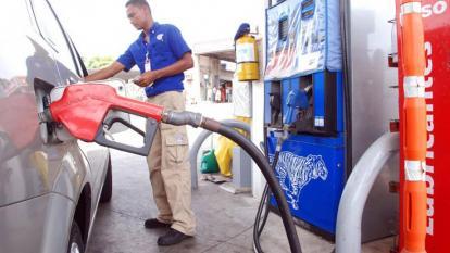 Estación de servicios de gasolina en Barranquilla.